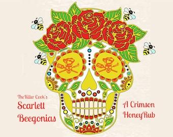 The Killer Cook's Scarlet Beegonias: our crimson sweet honey rub