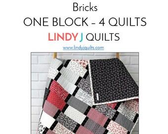 Downloadable PDF Quilt Pattern - Modern Quilt Pattern - Beginner Quilt Pattern