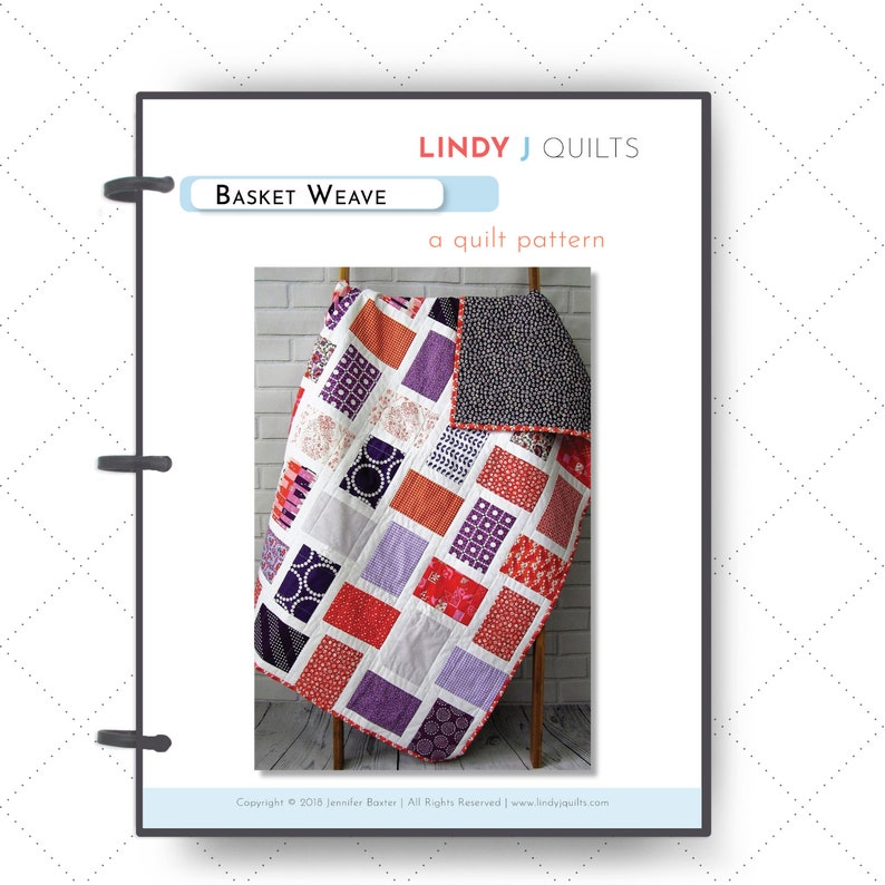 Basket Weave Quilt Pattern  Easy Quilt Pattern  Beginner image 0