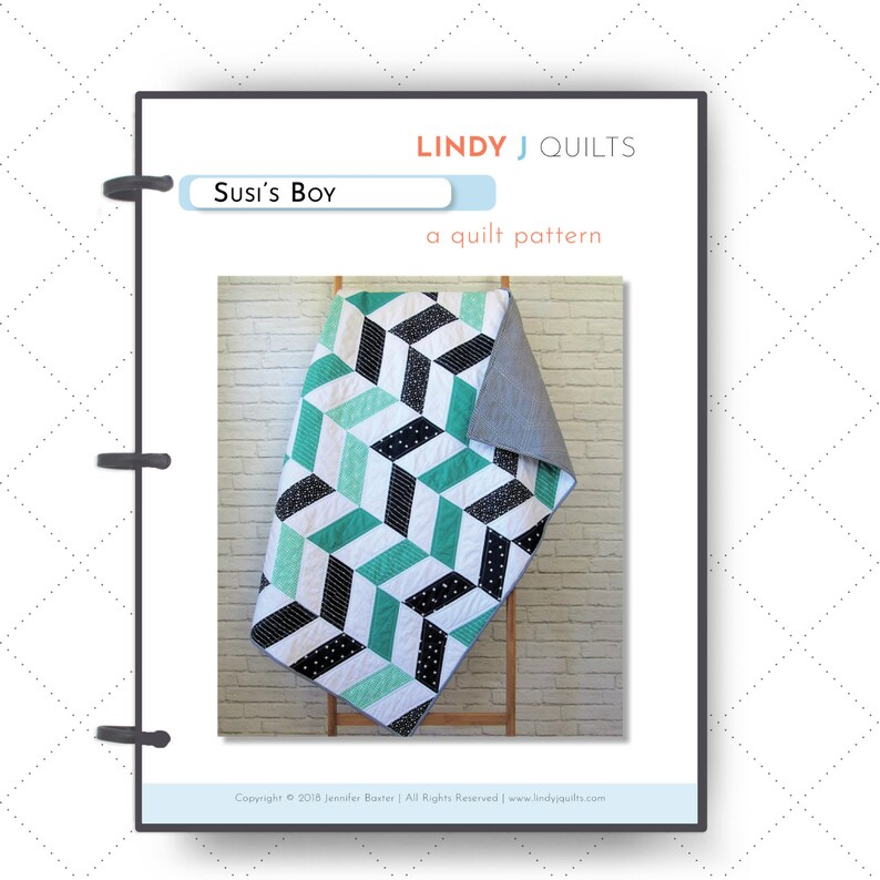 Susi's Boy Quilt Pattern  Size Ranges from Mini to Queen image 0
