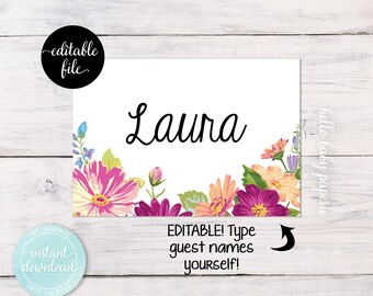 name tags succulent baby shower succulent tags name badges etsy