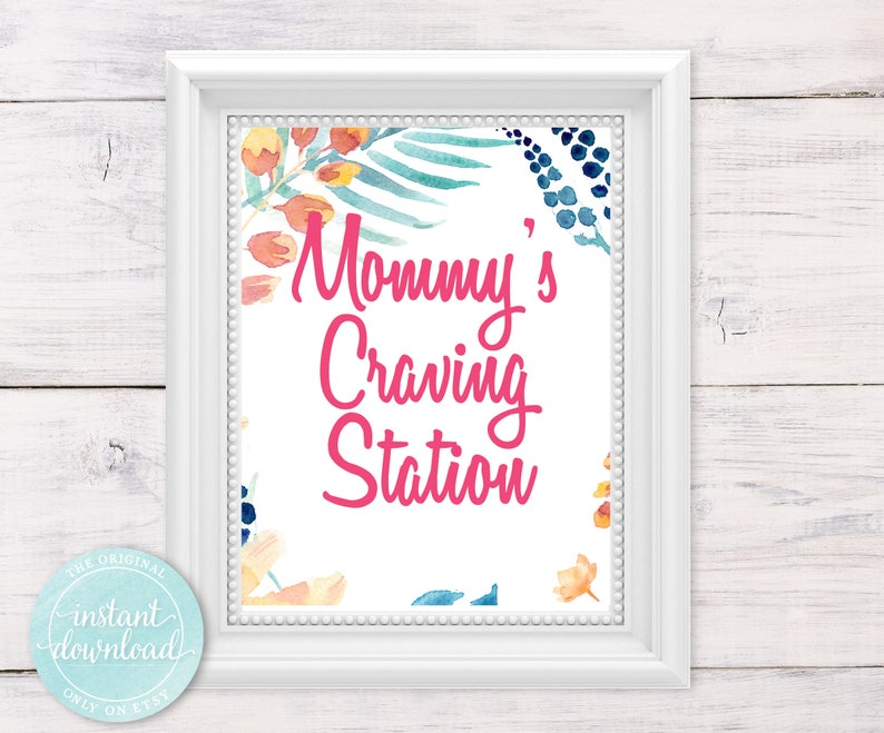 Baby Shower Food Table Sign Bohemian Baby Shower Etsy