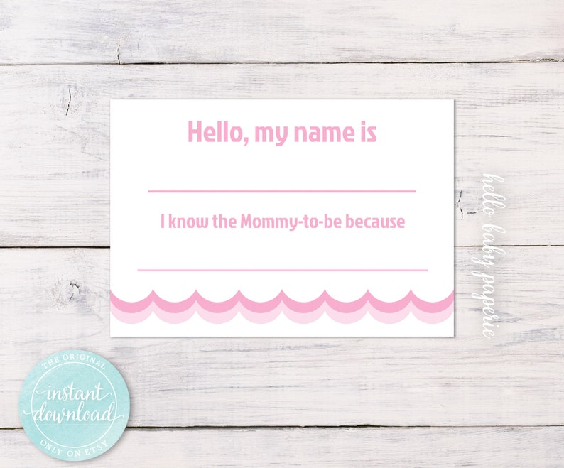 Baby Shower Name Tag Guest Name Tags I Know The Etsy