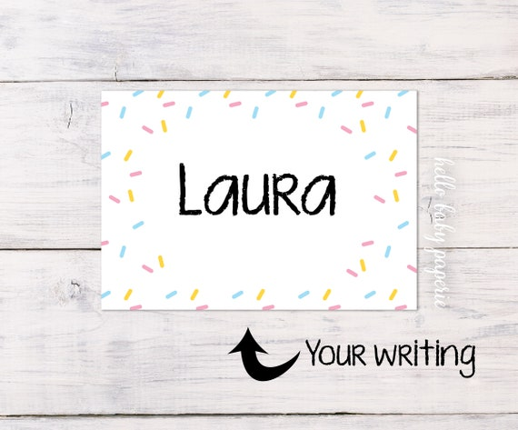 name tags sprinkle baby shower sprinkle name tags name etsy