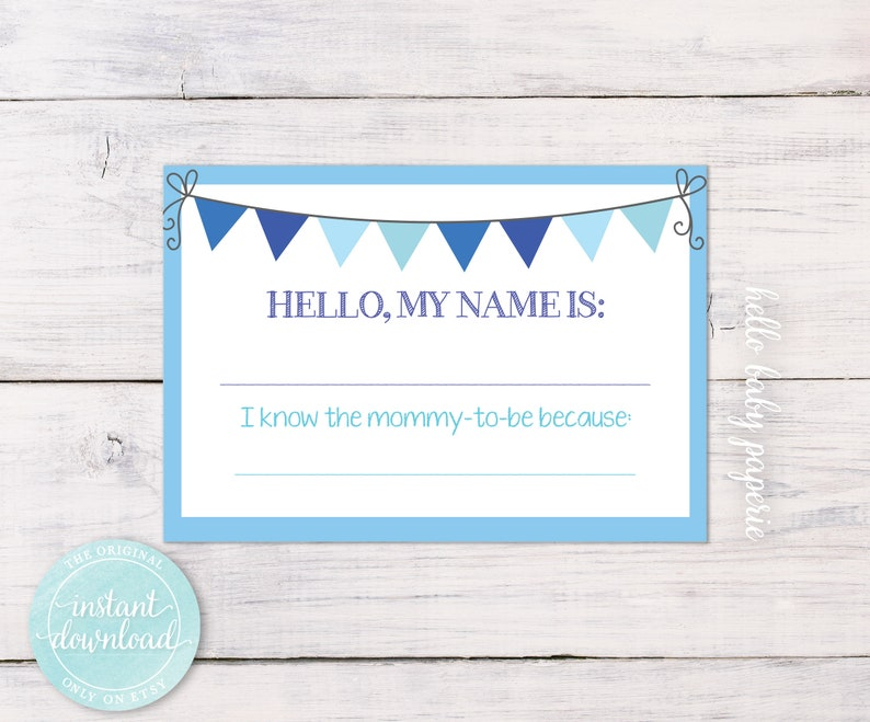Name Tags Baby Shower Name Tags Avery Name Tags Boy Baby Etsy