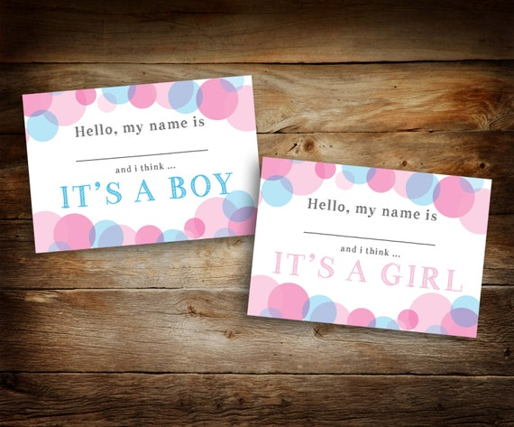 gender reveal name tags it s a girl it s a boy etsy