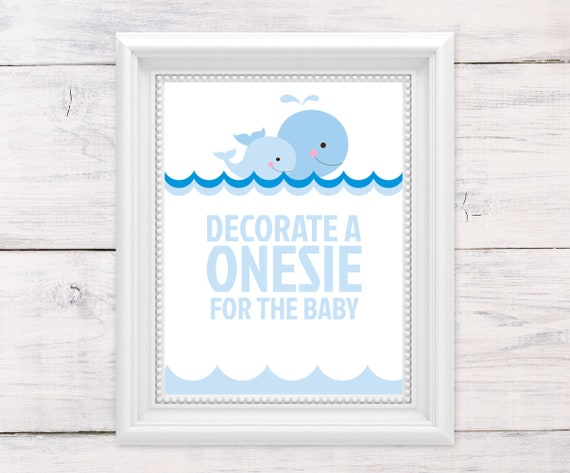 Onesie Decorating Baby Shower Games Nautical Baby Shower Etsy
