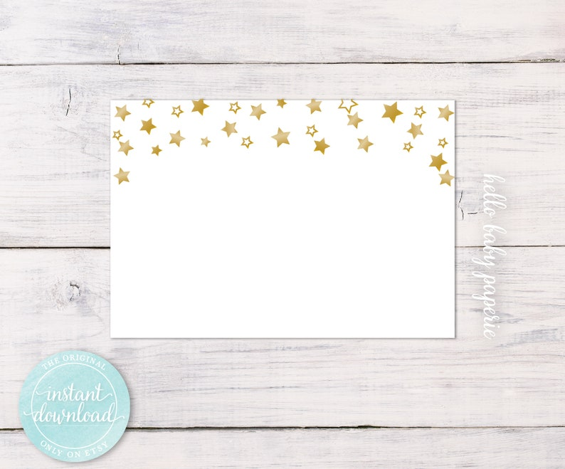 Blank Name Tags - Guest Name Tags - Party Name Tags - Star Name Tags - Fits  Avery® White Adhesive Name Badges 5395 - 0009-W