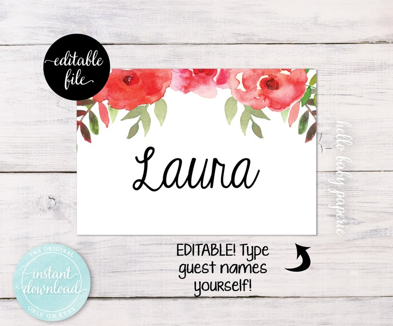 Baby Shower Name Tags Bridal Shower Name Tags Guest Name Etsy