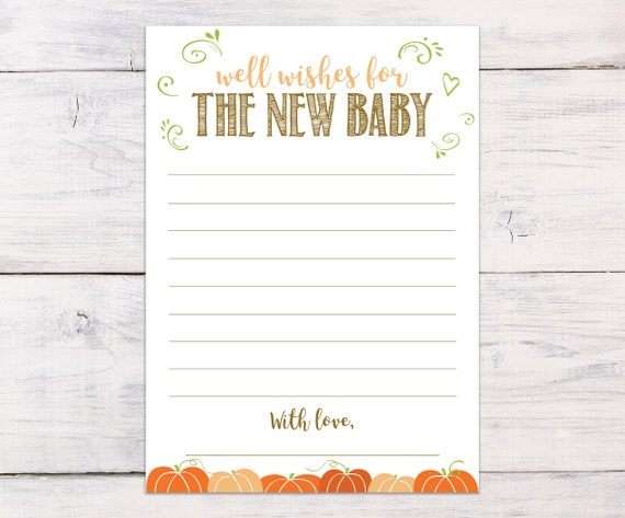 well wishes for the new baby baby shower games autumn etsy
