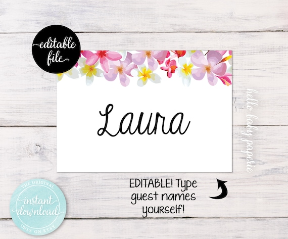 editable name tags guest name tags name badges adhesive etsy