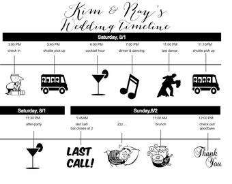 Diy Hochzeit Timeline Etsy