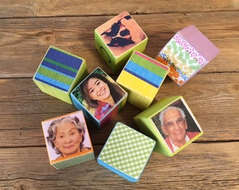 Bright Heirloom Photo/Alphabet Blocks