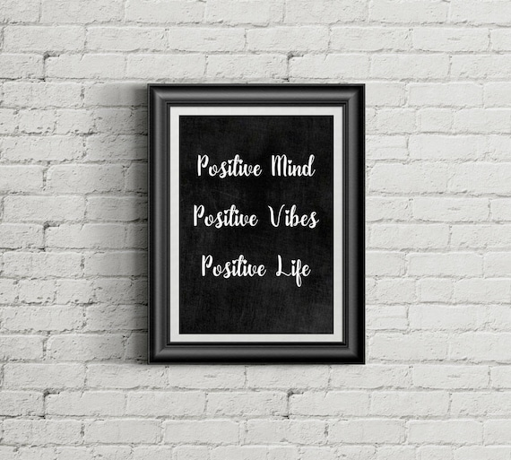 Chalkboard Print Quote Positive