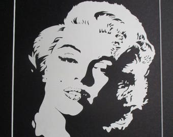 Marilyn Monroe Portrait Handmade Paper Cutting Wall Art