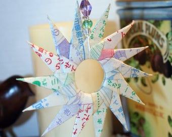 Origami Manga Paper Spiral Hanging Ornament
