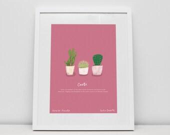 Cactus House Plant Print by Katie Duffett