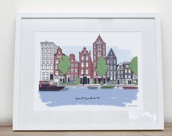 Amsterdam Herengracht Canal by Katie Duffett