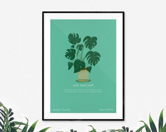 Swiss Cheese House Plant Print by Katie Duffett