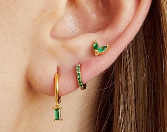 dark green stone barrel shape earrings handmade earrings green fluorite natural gemstone earrings sterling silver women/'s earrings