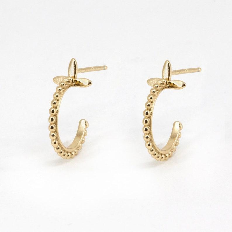 dainty huggie earrings gold hoops minimalist hoop earrings God hoop earrings dainty huggies beaded hoops huggie hoop earrings