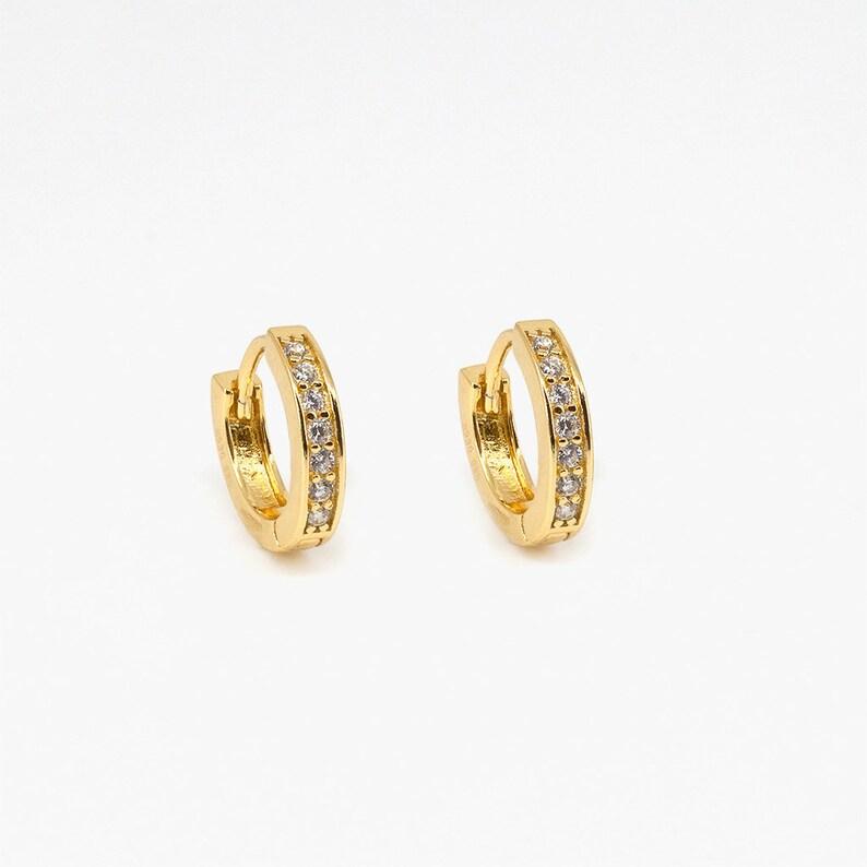 2931075a2 Gold hoop earrings dainty hoop earrings small hoops | Etsy