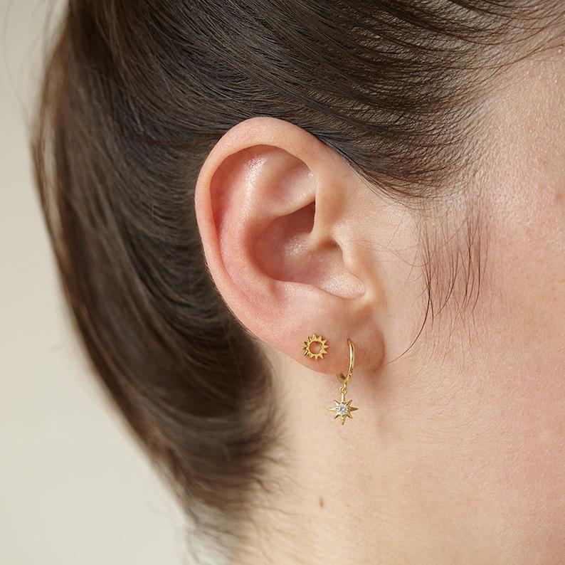 minimal earrings sun earrings delicate studs Sun stud earrings tiny studs gold dainty studs tiny stud earrings dainty jewelry