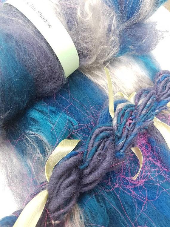 Handspun White Art Yarn  Box Of Delights  20 The Royal Fortune  Mint  Purple  Silver  Lilac  50g  Luxury Knitting  Luxury Crochet