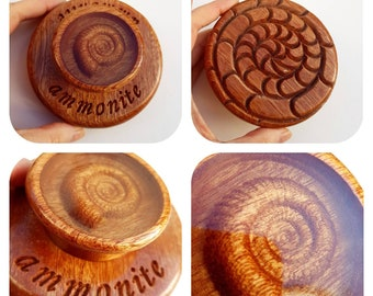 Wet Felting Block 4 inch / Fulling Block / Ammonite Wooden Felting Block / Wet Felting Tool / Wooden Fulling Block / Luxury Fibre Art Tool