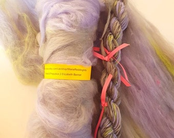 Pride & Prejudice Lilac Handspun Yarn / 2 Elizabeth Bennet / 50g / Cream / Green / Mint / White / Flesh / Jane Austen / Knitting / Crochet