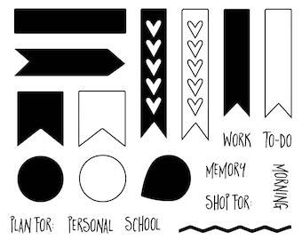 "4x4 ""Planner Basics"" Stamp Set"