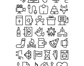 "4x6 ""Large Icons"" Stamp Set"