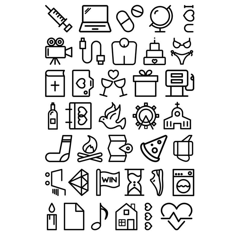 4x6 Large Icons Stamp Set