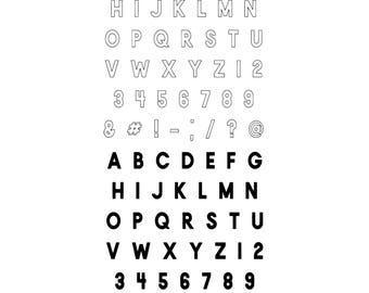 4x8 Offset Alphas Stamp Set (Pre-Order)