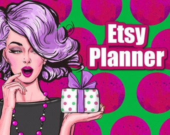 Etsy Sellers Planner | For Etsy Sellers, Planner for Etsy Business, Printable Planners Etsy, Best Etsy Planners, Etsy Seller Worksheets