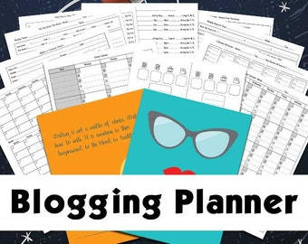 Blog Planner | Blogging Planner Includes Editorial Calendar, Inspirations, Blog Post Planner, Printable Blog Planner, Blog Organizer