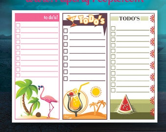 Summertime To Do List Printable, To Do Lists, Planner Inserts, Planner Printable, Letter Sized, To-Do List, Fun Whimsical Flamingo Cocktail