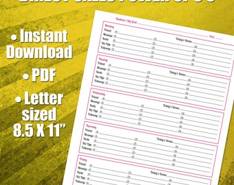 lead tracking sheet followup worksheet for all your leads etsy