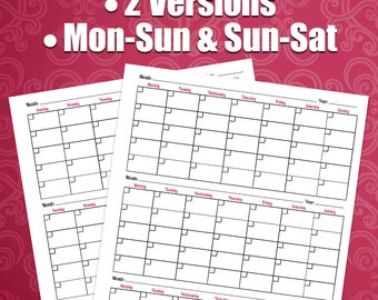 weekly printable planner pages to do list notebook diy etsy