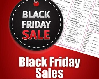Black Friday Sales Worksheet | Map out your Black Friday & Cyber Monday Sales Plan, For Etsy Sellers, Marketing, Ecommerce, Ebay, Sales