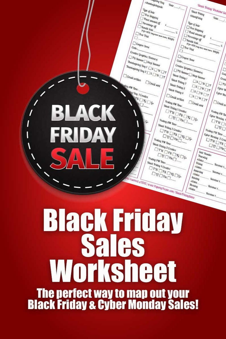 Black Friday Sales Worksheet  Map out your Black Friday & image 0