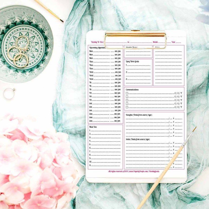 photo relating to Printable Planners known as Weekly Printable Planner Internet pages - In the direction of Do Listing, Laptop, Do-it-yourself Planners, Having Aspects Carried out (gtd), Letter Sized, 8.5X11, ARC, Binder, Pdf Record