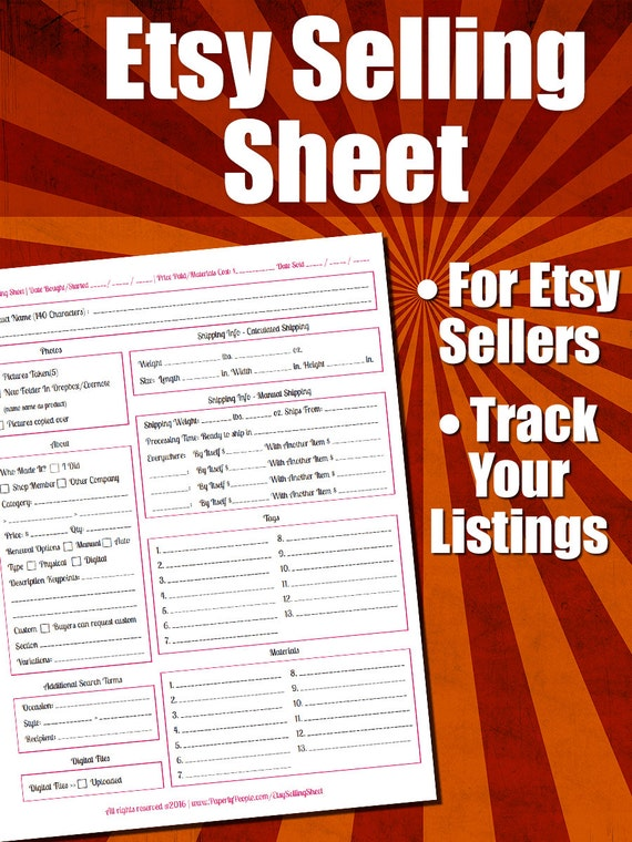 etsy products listing sheet etsy seller form listing etsy