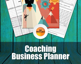 Coaches Planner | Business Planner For Life, Business, Fitness, Relationship or Any Other Kind of Coaching Program, Coaching Planner