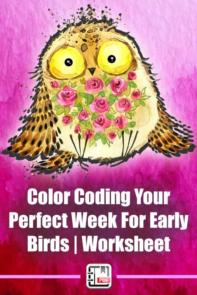 Time Management For Early Birds  Color Coding Your Perfect image 0