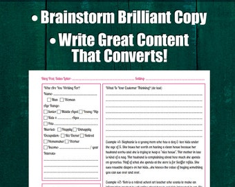 Writing A Blog Post or Sales Letter Worksheet | Who Is Your Perfect Customer? Copywriting, Sales, Writing, Business