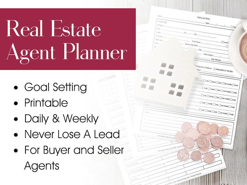 Real Estate Agent Planner Agenda Calendar Goal Setting image 0