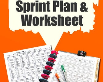30 Day Sprint Plan and Worksheet For Etsy Sellers | Super Practical Worksheet Etsy Sellers Can Use To Track Marketing Efforts Over 30 Days