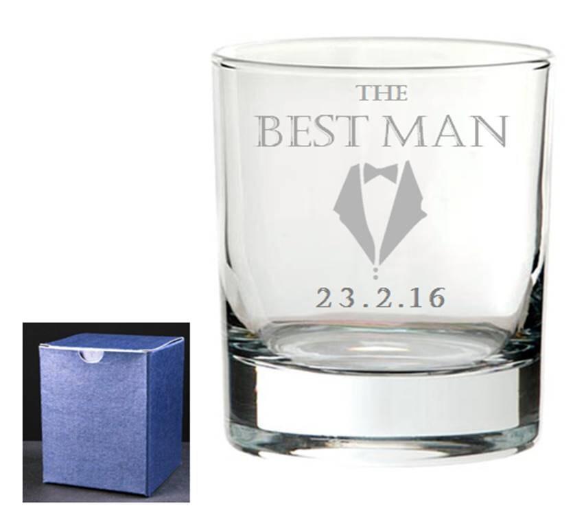 Personalised Engraved Wedding Whisky Tumbler Best Man Usher