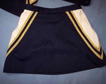 Low Rise Blue Skirt Built In Shorts Cheerleader Uniform Football Game Christmas Costume
